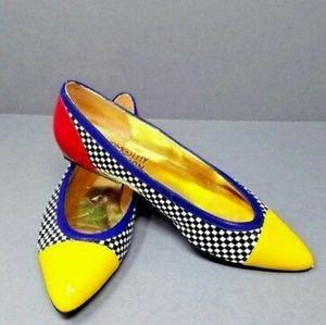 Timothy hitsman vintage multicolor check shoes